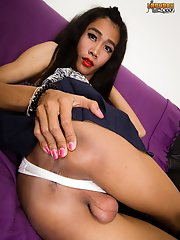 Toon Is A 19 Year Old Ladyboy From Bangkok. She Is Tall, Skinny, Cute Face, Rock Hard Uncut Cock And A Small Ass That Can Take Really Big Cocks. She I