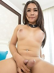 Ladyboy Tata - Hoodie and Three Cumshots Bareback