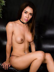 Angel Is A Stunning Ladyboy With An Amazing Face, Sexy Slim Body With Big Tits, A Nice Firm Ass And A Big Thick Cock! Enjoy This Hot Tgirl Stroking He
