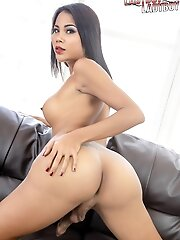 Ladyboy Got is so excited to show you her gorgeous body with big tits, great ass and uncut cock. Watch her get playful and naughty!