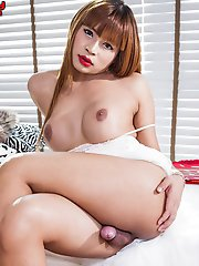 Leo is quite simply sex on fuckin legs - a devastatingly beautiful LB with perfect big boobies and a nice fat girlie surprise up her skirt
